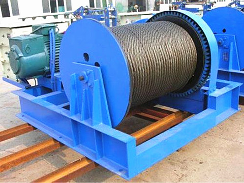 double drum construction winch 30 ton design