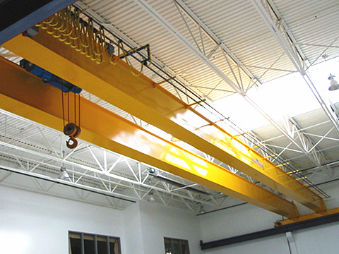 garage double girder bridge crane installation