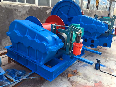 low speed electric winch 50 ton design