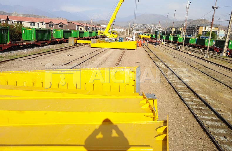 Rail Mounted Gantry Crane Shipped to Chile