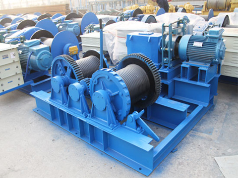 small double drum winch